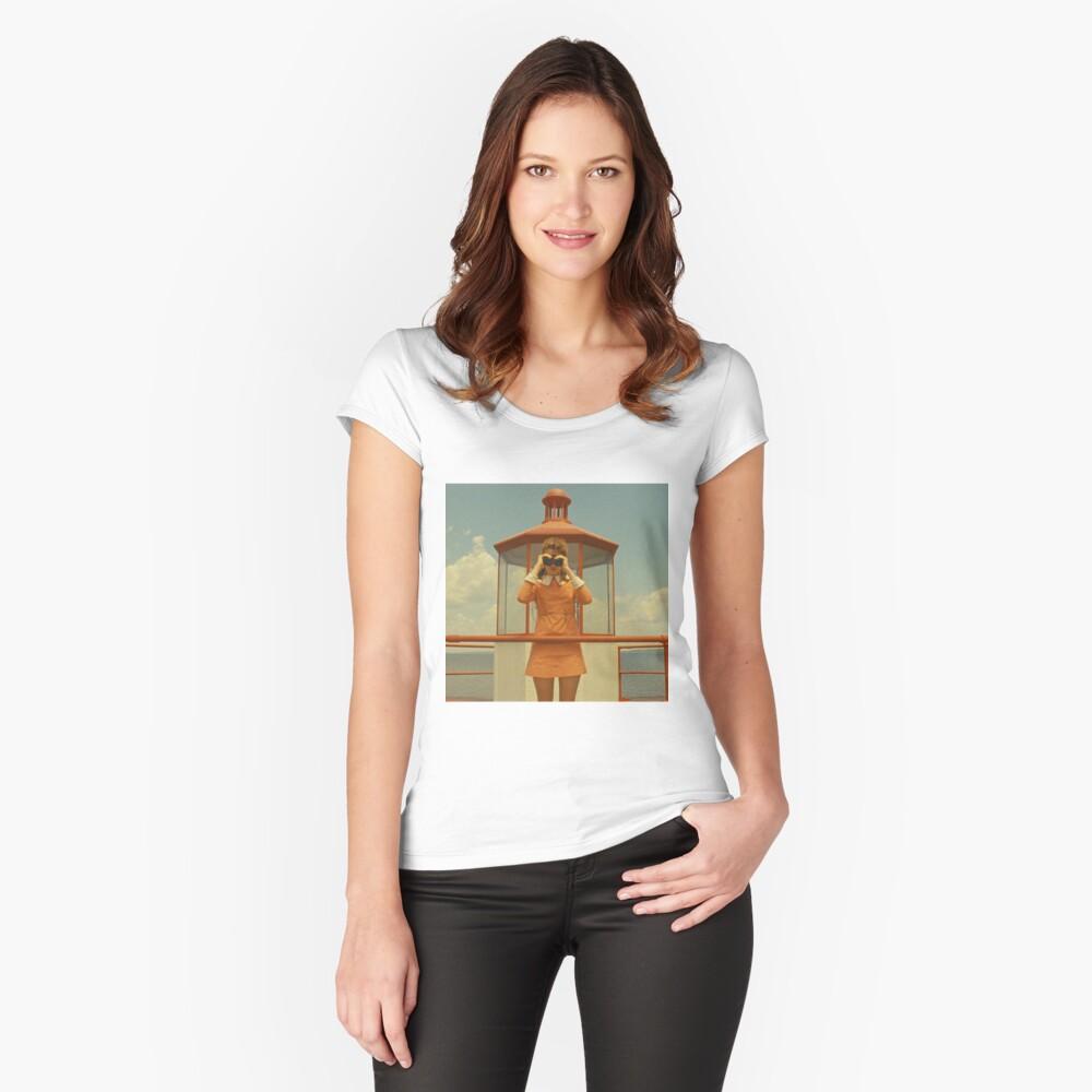 Moonrise Kingdom casttle Camiseta entallada de cuello redondo