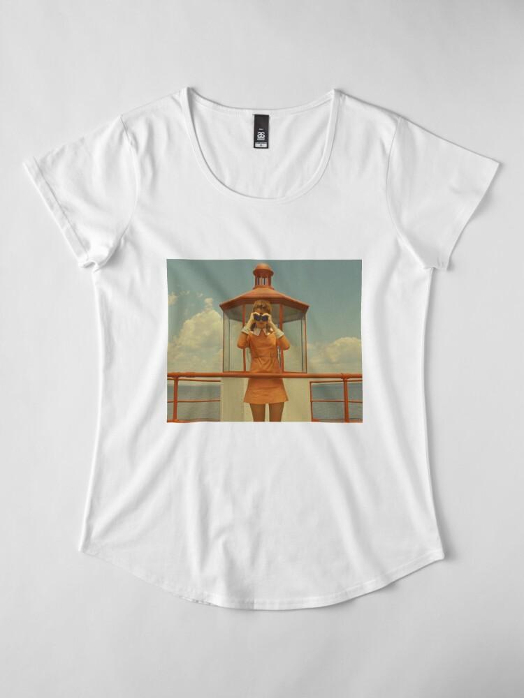 Vista alternativa de Camiseta premium para mujer Moonrise Kingdom casttle