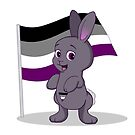 Lane - the Asexual Pride Bunny by Catherine Dair