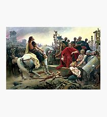 Vercingetorix Throws Down His Arms At The Feet Of Julius Caesar Photographic Print