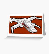X-wing in bricks Greeting Card