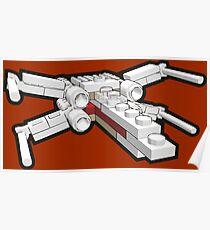 X-wing in bricks Poster