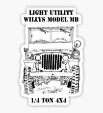 Light Utility Willys Model MB Jeep (1) Sticker