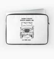 Light Utility Willys Model MB Jeep (1) Laptop Sleeve