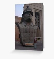 Bust of Saddam Hussein Greeting Card
