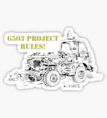 G503 jeep project rules! Sticker