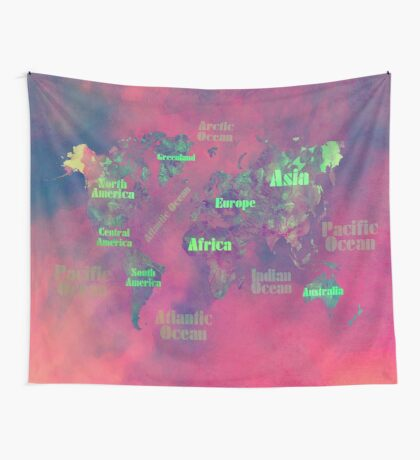 world map 116 #worldmap #map Wall Tapestry