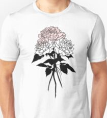 Tattoo Style Black and Pink Rose Trio T-Shirt