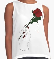 Rose Red Sleeveless Top