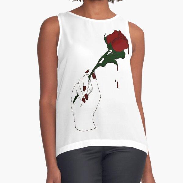 Rose Red Sleeveless Top