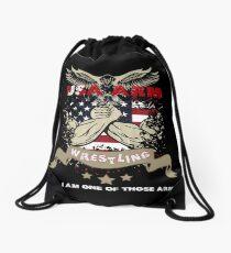 Arm wrestling Drawstring Bag