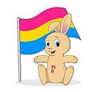 Payton the Pan Pride Bunny by Catherine Dair