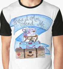 Funny Christian Quote Here I Am Send Me Presents Graphic T-Shirt