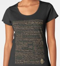 Shakespeare Insults Dark - Revised Edition (by incognita) Women's Premium T-Shirt