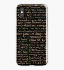 Shakespeare Insults Dark - Revised Edition (by incognita) iPhone Case