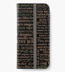 Shakespeare Beleidigungen dunkel - überarbeitete Ausgabe (von incognita) iPhone Flip-Case/Hülle/Klebefolie