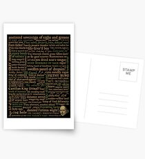 Shakespeare Insults Dark - Revised Edition (by incognita) Postcards