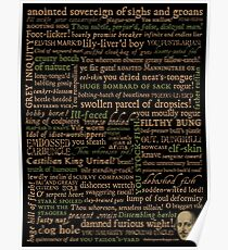 Shakespeare Insults Dark - Revised Edition (by incognita) Poster