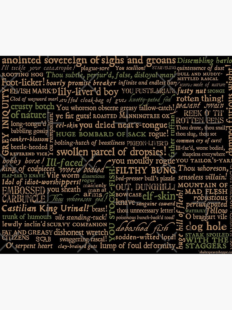 Shakespeare Insults Dark - Revised Edition (by incognita) by incognitagal