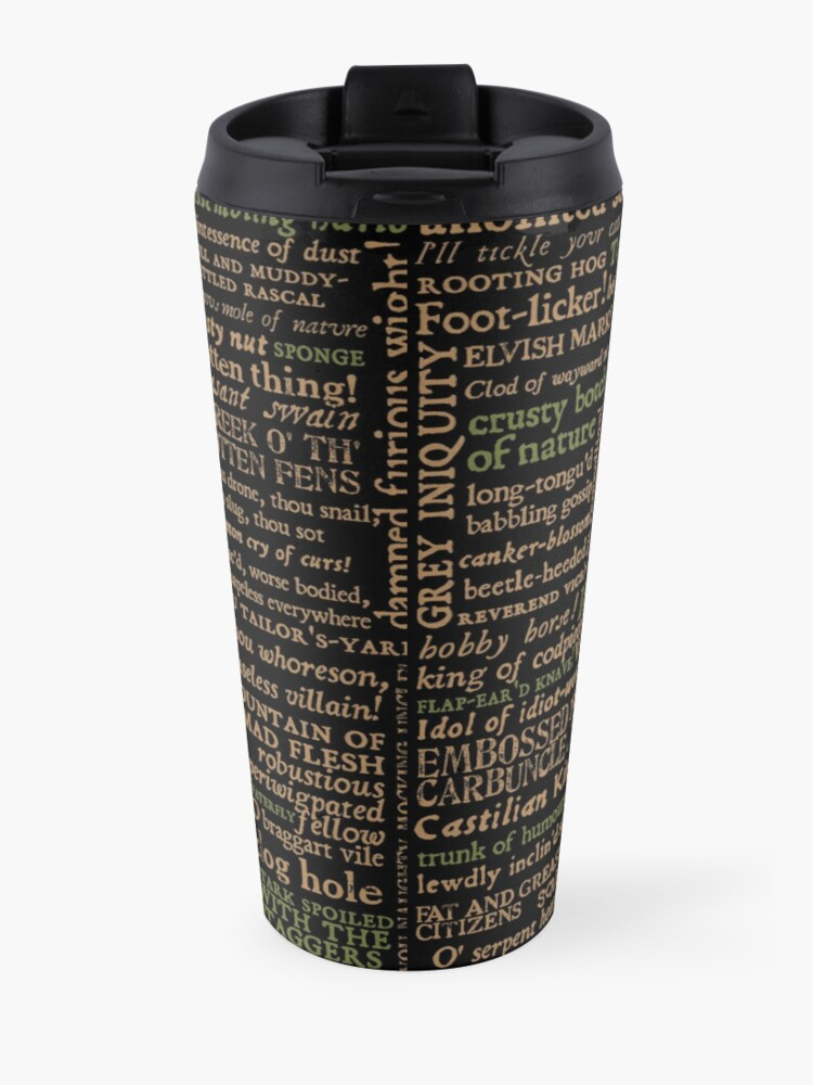 Alternate view of Shakespeare Insults Dark - Revised Edition (by incognita) Travel Mug