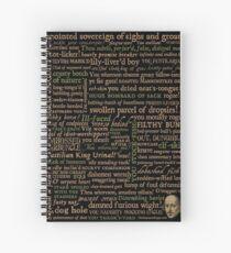 Cuaderno de espiral Shakespeare Insults Dark - Edición revisada (por incógnita)