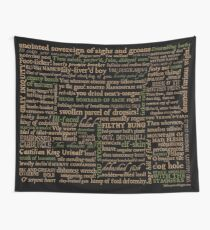Shakespeare Insults Dark - Revised Edition (by incognita) Wall Tapestry