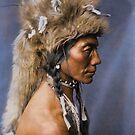 Yellow Kidney - Piegan - Blackfoot American Indian by DanKeller