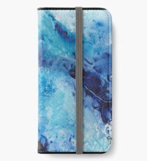 Blue abstract expressionism  iPhone Wallet/Case/Skin