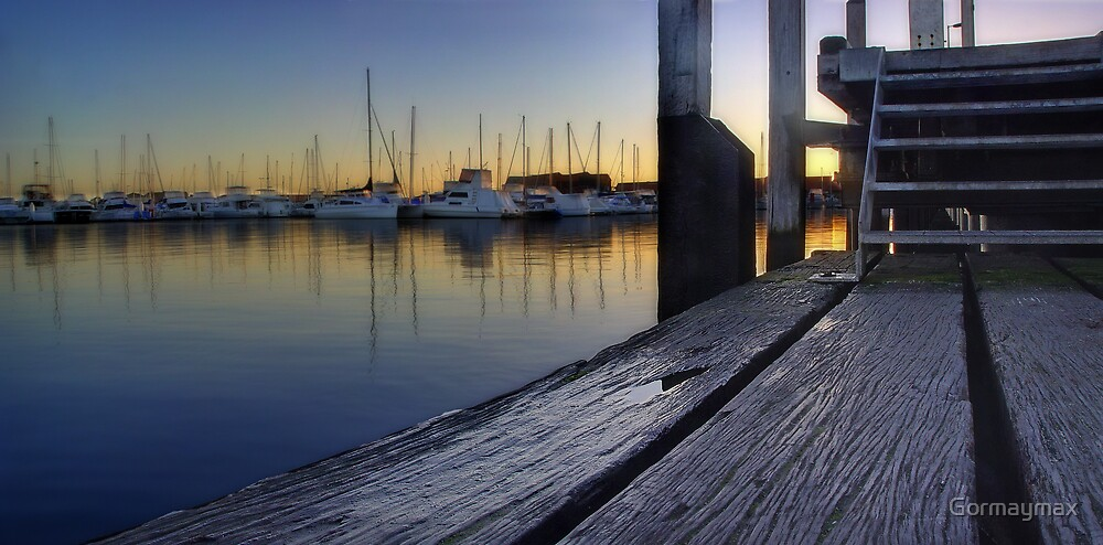 On the jetty at sunrise by Gormaymax