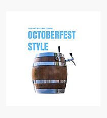 Berr Octoberfest Photographic Print