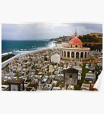 Cemetery near El Morro Poster