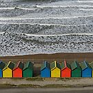 Waves and Beach Huts, Whitby by Rod Johnson