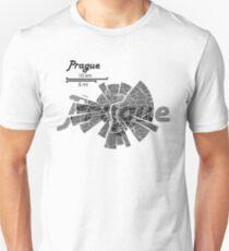 Prague Map Unisex T-Shirt
