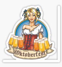 Oktoberfest Dirndl Lady Sticker