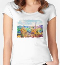 Park Guell Barcelona Women's Fitted Scoop T-Shirt