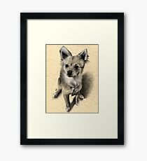Charcoal Companions: Lucy Framed Print