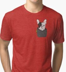 e15ce030c French Bulldog FU Pocket Tri-blend T-Shirt