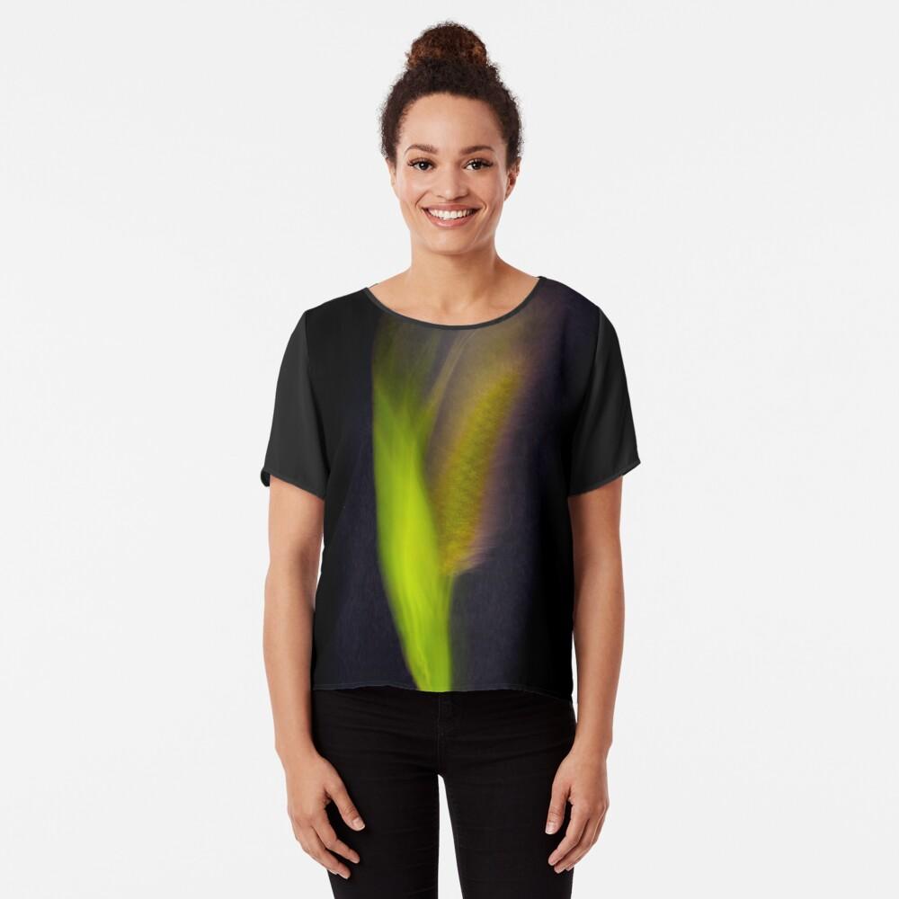 Fleur Blur-Abstract Bristle Grass Chiffon Top