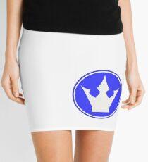 P101 - Center Blue Mini Skirt