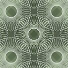Circled in Shades of Emerald Green by AhUmDesign