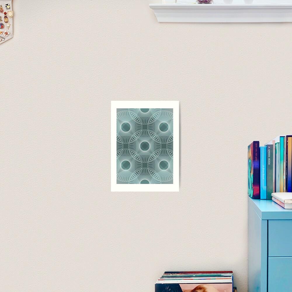 Circled in Shades of Teal Art Print