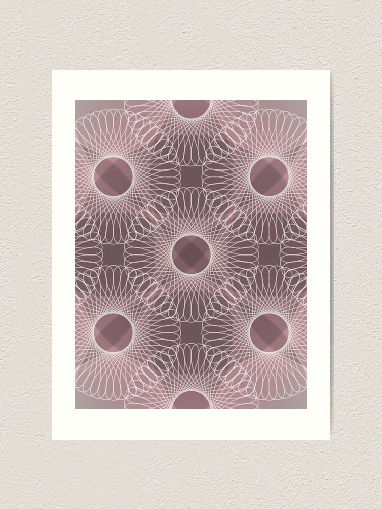 Alternate view of Circled in Shades of Rose Pink Art Print