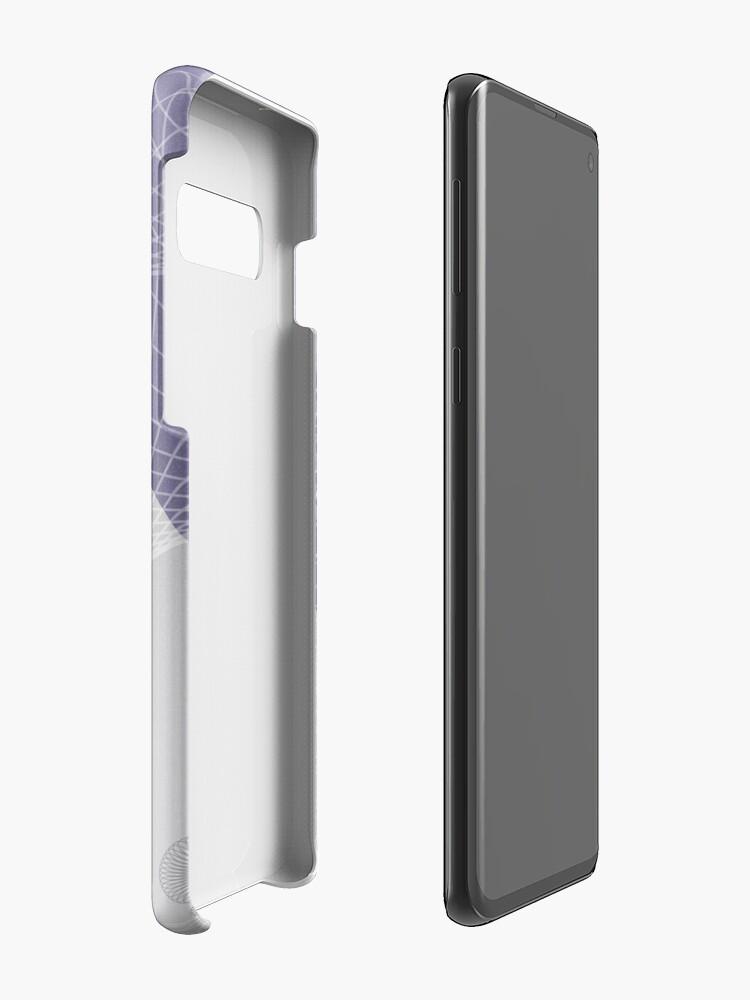 Alternate view of Purple Skyfall Case & Skin for Samsung Galaxy