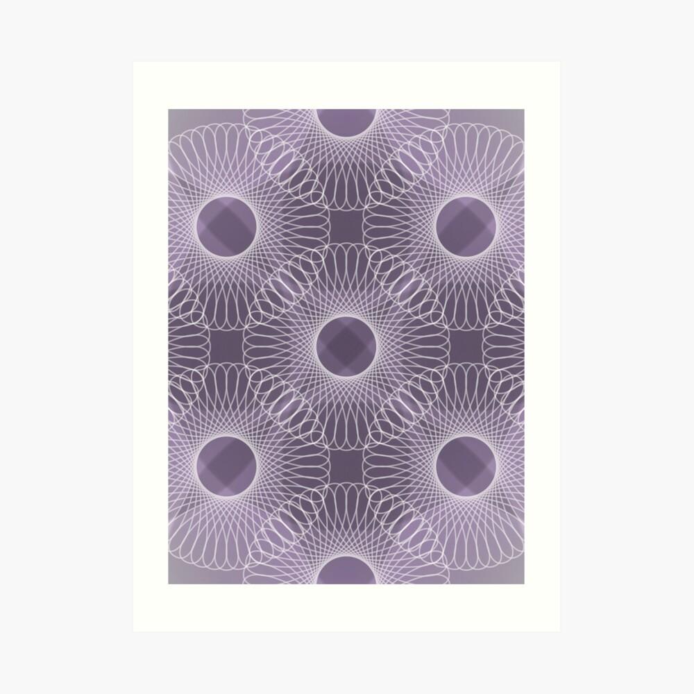 Circled in Shades of Amethyst Purple Art Print