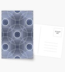 Circled in Shades of Sapphire Blue Postcards