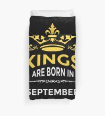 Kings Are Born In September Duvet Cover