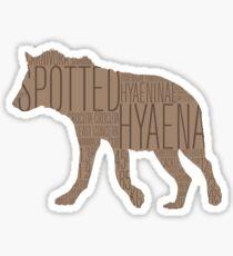 Word Cloud Wildlife: Crocuta (Spotted Hyaena) Sticker