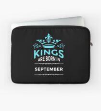 Kings are born in september Laptop Sleeve
