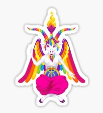 1997 Neon Rainbow Baphomet Sticker