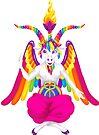1997 Neon Rainbow Baphomet by creepygirlclub